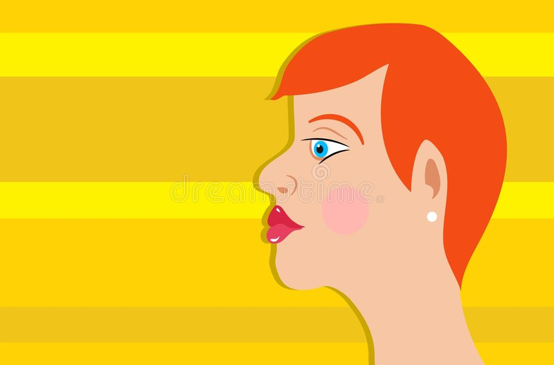 Red Head royalty free illustration