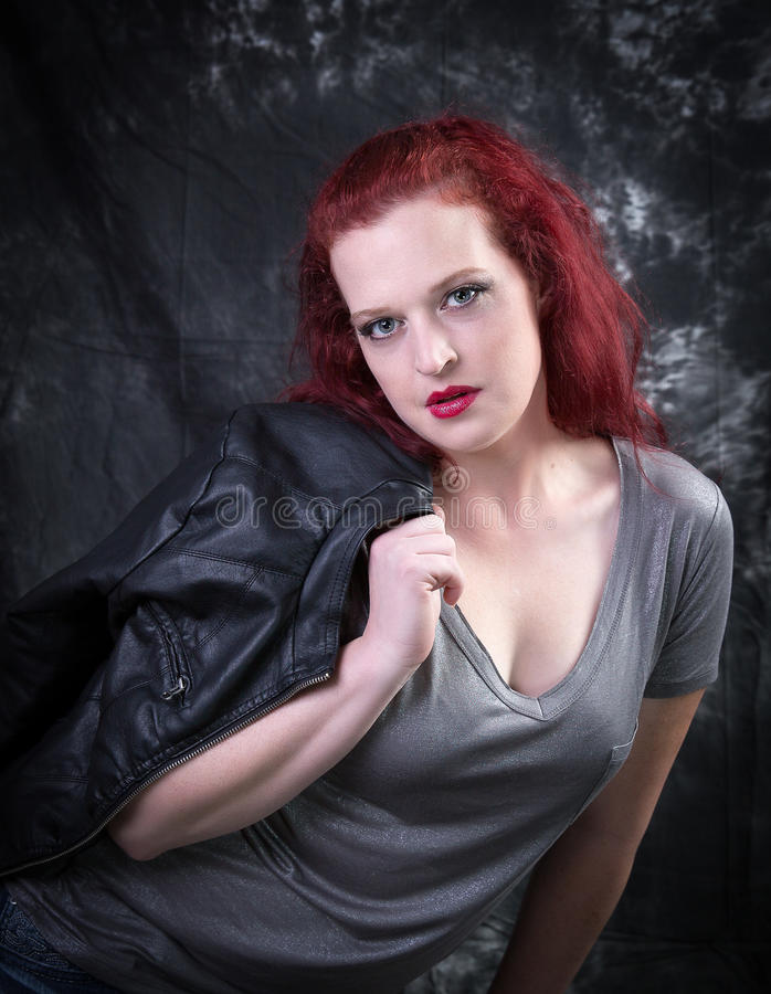 Red Head Model stock image