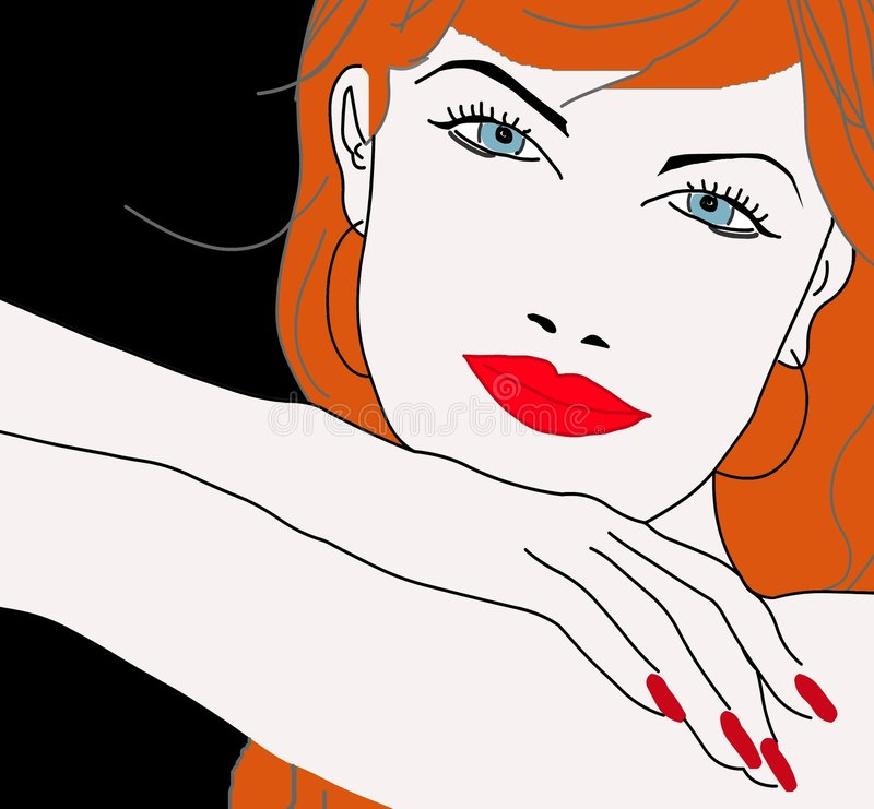Download Red Head Pretty Girl's Face Royalty Free Stock Photos - Image: 5258398