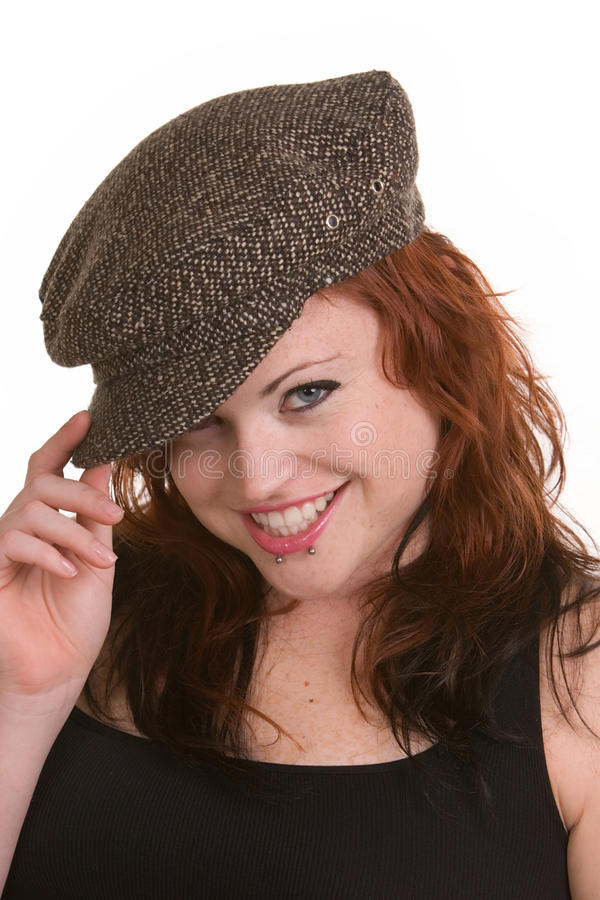 Download Red headed girl stock photo. Image of woman, freckles - 21337016