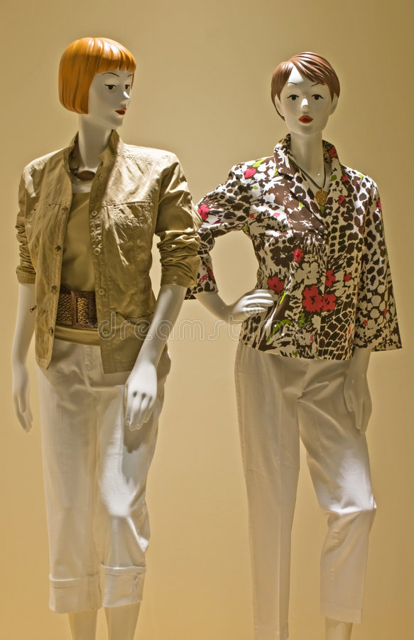 Red Headed Mannequins stock images