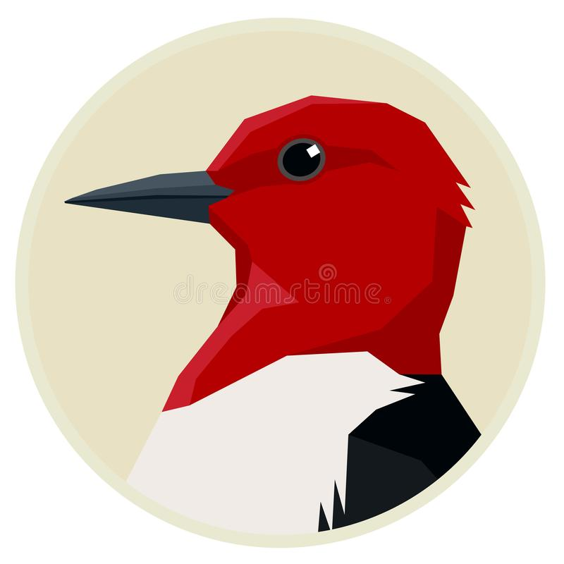 Free Red Headed Woodpecker Birds Collection Vector Illustration Round Frame Royalty Free Stock Image - 154613866