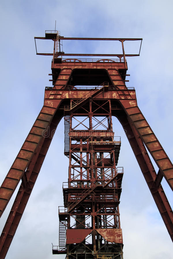 Red headframe Sainte Fontaine Moselle royalty free stock photography