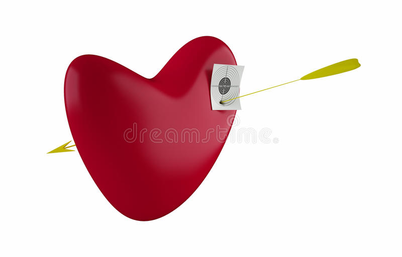 Download Red heart stock illustration. Image of valentine, heart - 10993609