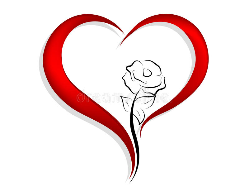 Red heart stock illustration
