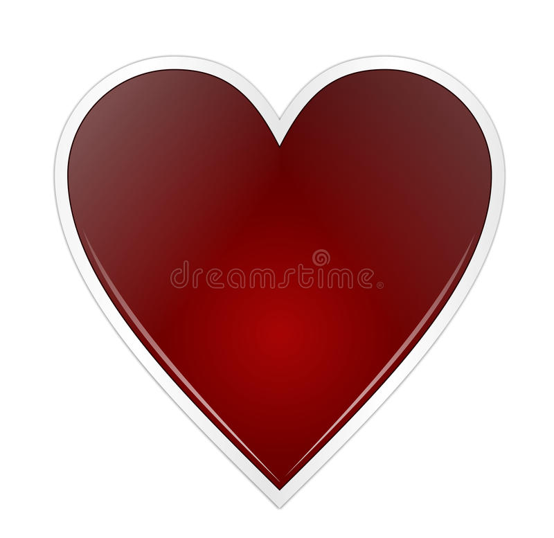 Download Red heart stock vector. Image of love, romance, icon - 15312200