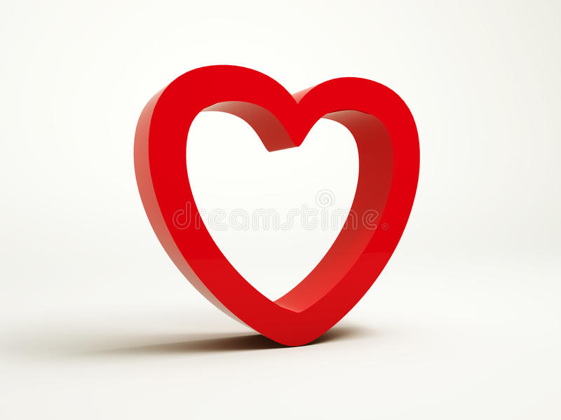 Download Red heart stock illustration. Image of icon, abstract - 27049847