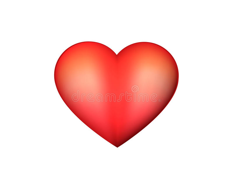 Download Red heart stock illustration. Image of header, classic - 28513122