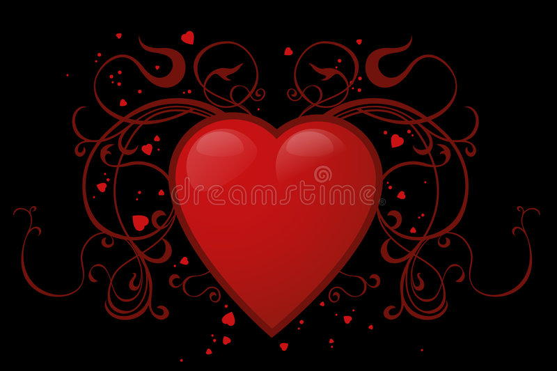 Red heart royalty free illustration