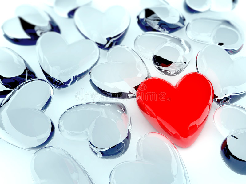 Red heart. Hi quality 2d render; realistic textures stock illustration