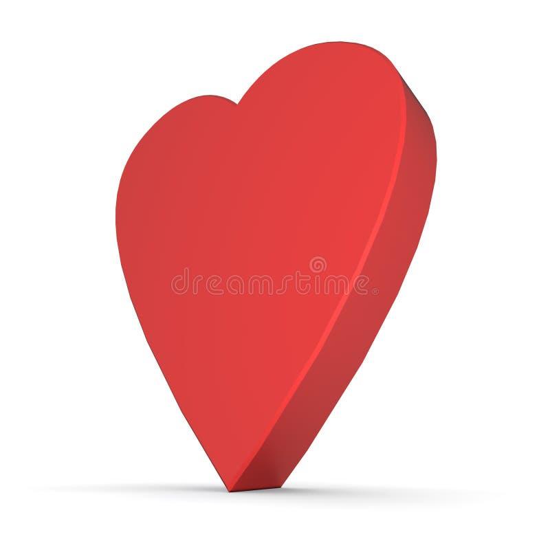 Download Red Heart in 3D stock illustration. Illustration of heart - 14235777