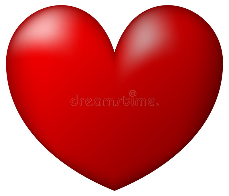 Red Heart. White Background Illustration stock illustration