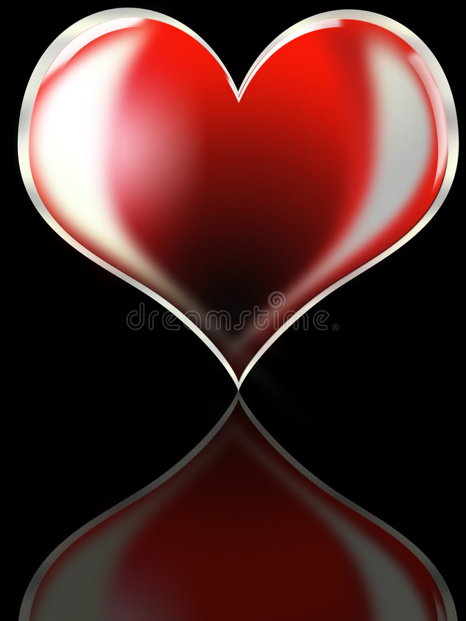 Download Red heart stock illustration. Image of affections, icon - 7571184