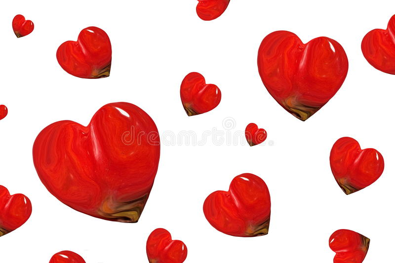 Red Heart abstract art stock photos