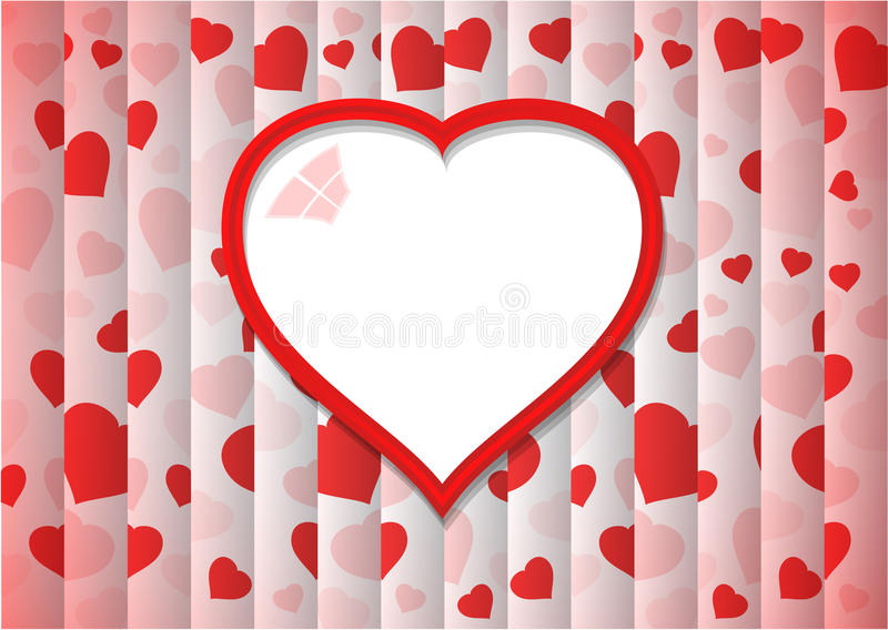 Abstract Background With Red Heart Shape royalty free stock images