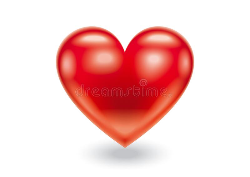 Red Heart abstract illustration stock photo