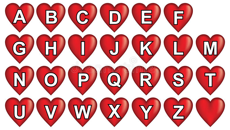 Download Red Heart Alphabet Stock Image - Image: 21162011