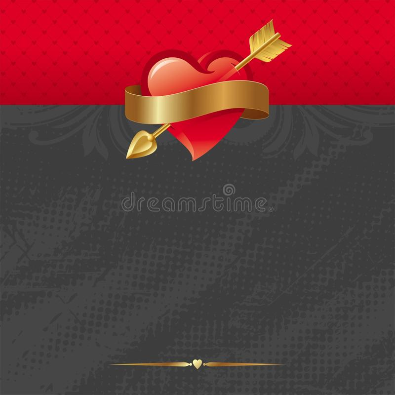 Free Red Heart And Arrow Stock Photography - 17835642