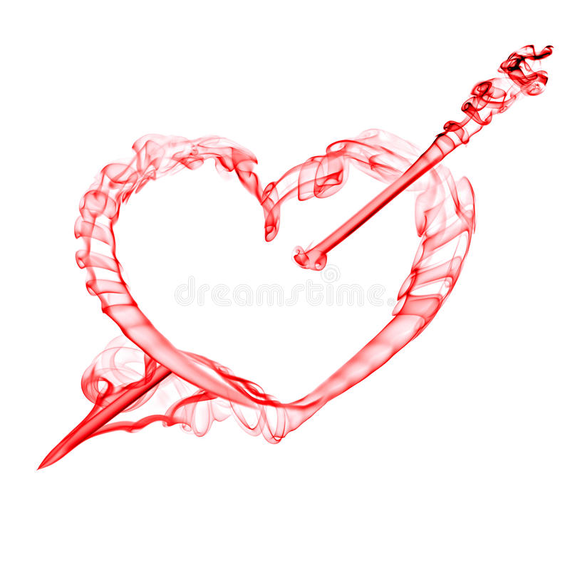 Download Red  Heart With Arrow  For Valentine Day Royalty Free Stock Image - Image: 12424656