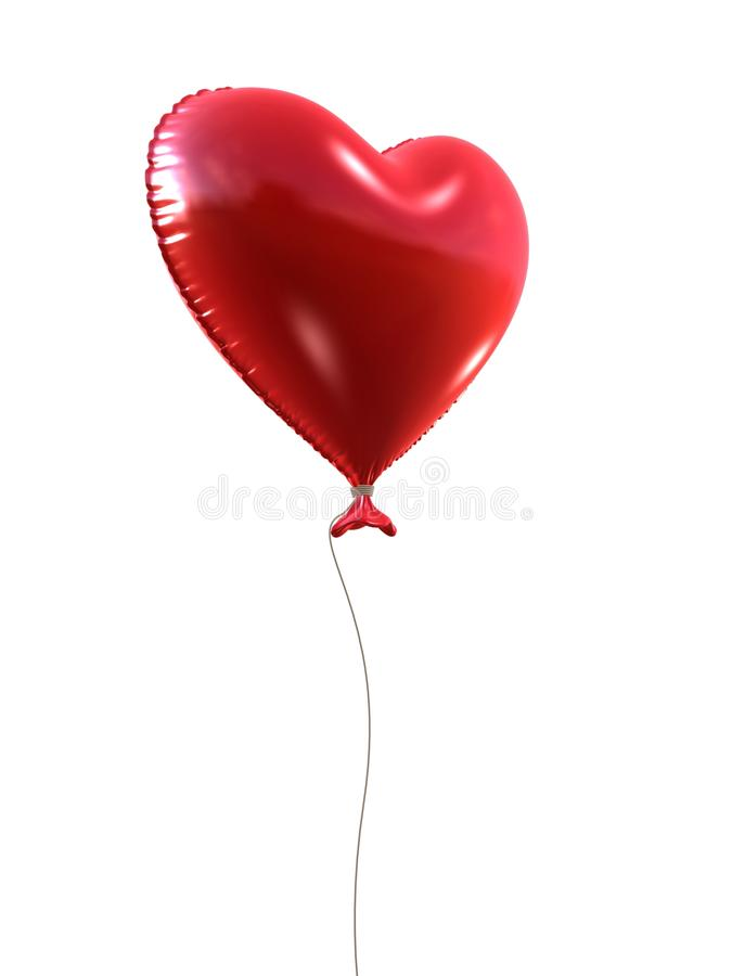 Download Red heart balloon stock illustration. Image of attractive - 18583078