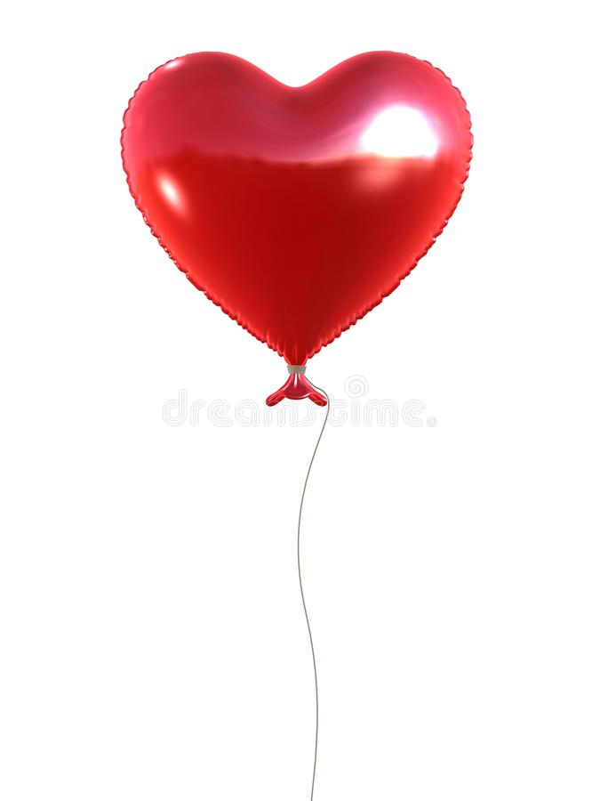 Download Red heart balloon stock illustration. Image of christmas - 18583080