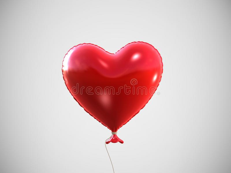 Download Red heart balloon stock illustration. Illustration of illustration - 18583087