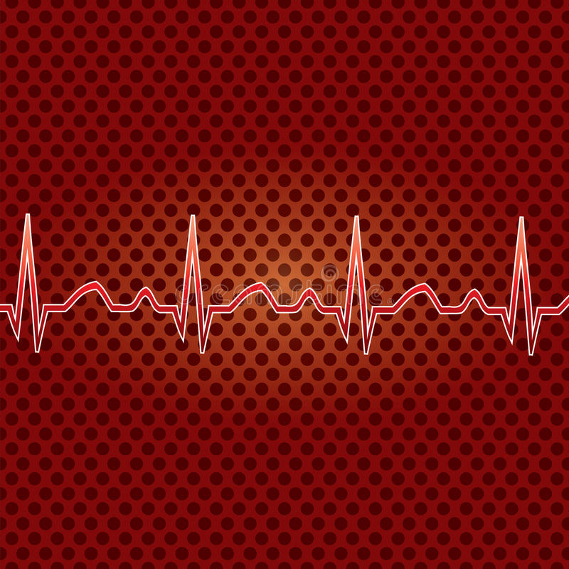 Download Red heart beat. stock vector. Illustration of background - 28126367