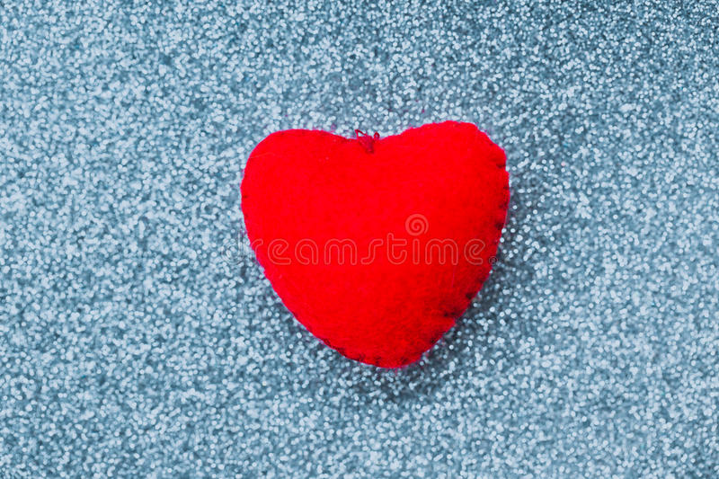 Red heart with blink glitter. Background, love luxury party concept royalty free stock photography