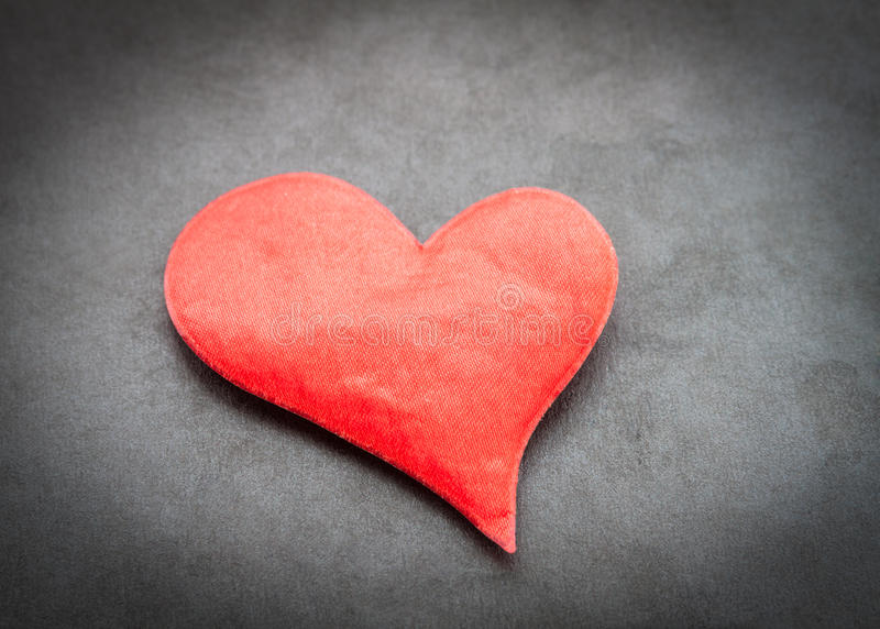 Red heart. royalty free stock image