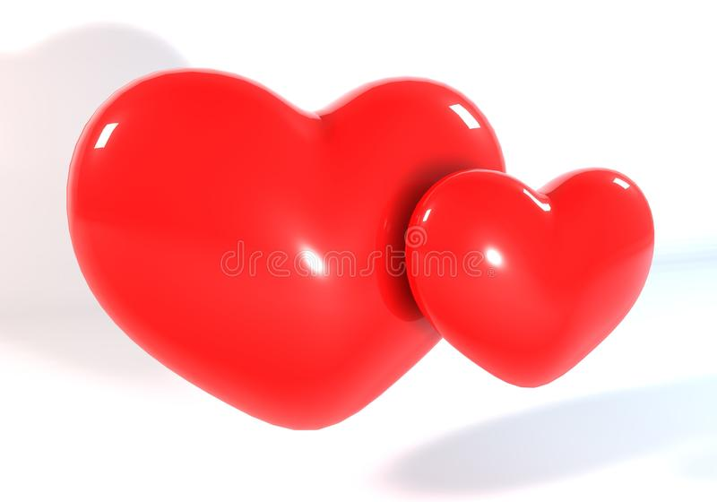 Red Heart 3d stock photography
