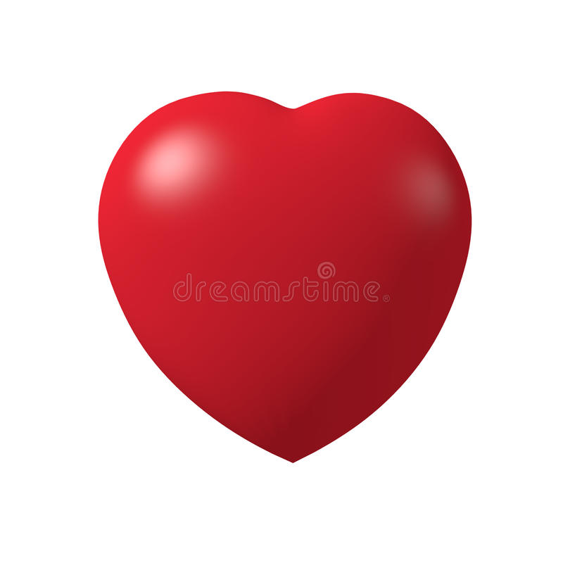 Red heart 3d. Red hearth im 3d model with light isolate white background royalty free stock photography