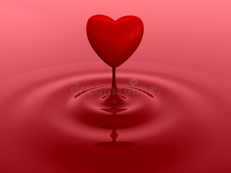 Red Heart Drop Royalty Free Stock Photography