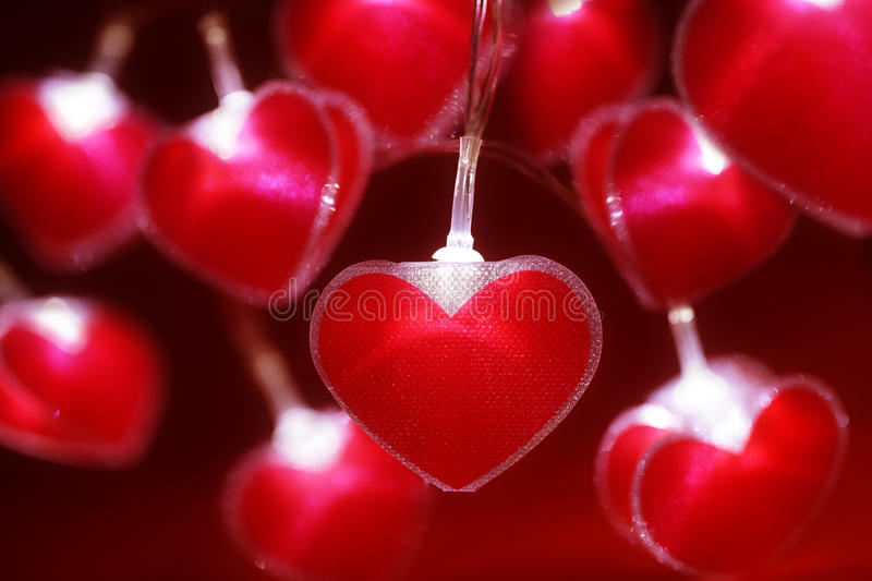 Download Red Heart Fairy Lights Valentines Day Background Stock Photo Image  64153584   Valentine Lights
