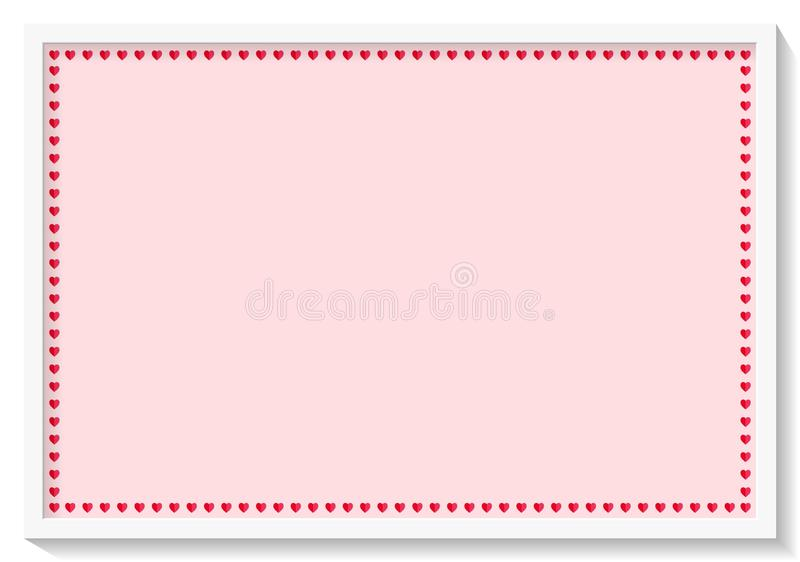 Red heart frame background. Illustration concept. Heart red frame background illustration concept love wedding border label empty square creative design graphic stock image