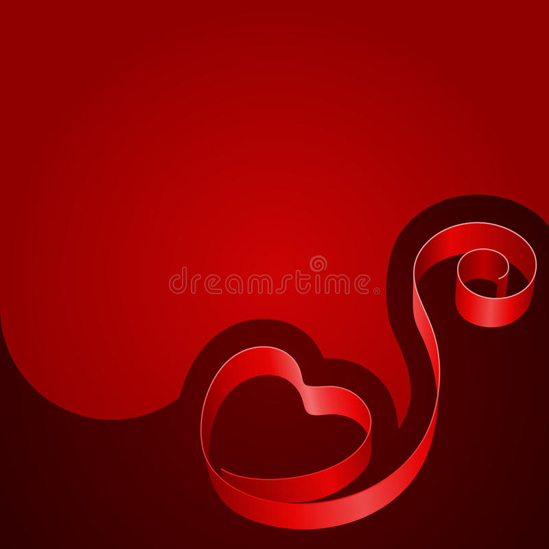 Free Red Heart From Ribbon Stock Photos - 18068773