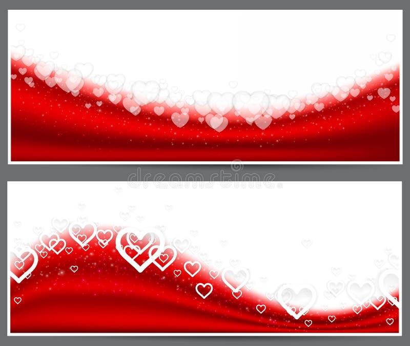 Red heart headers. stock illustration