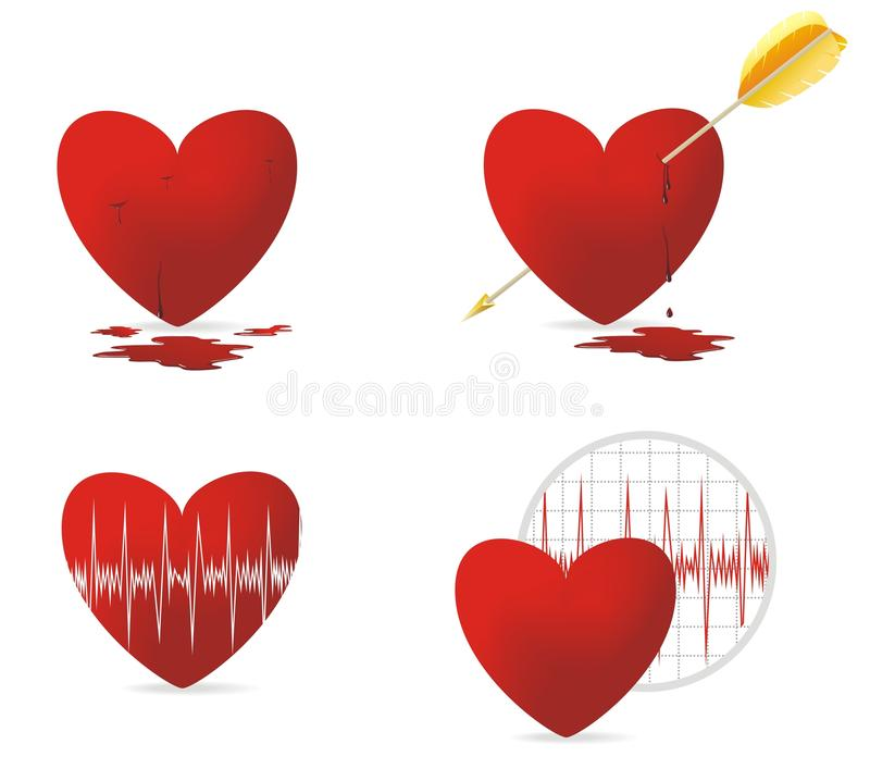 Download Red heart and health stock vector. Image of cure, wound - 20674609