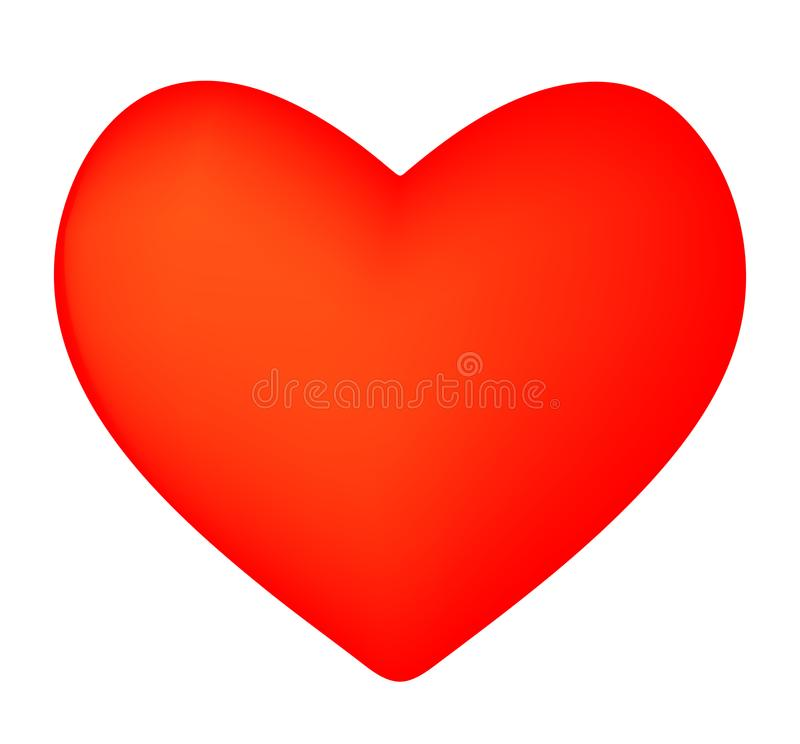 Red heart icon royalty free illustration
