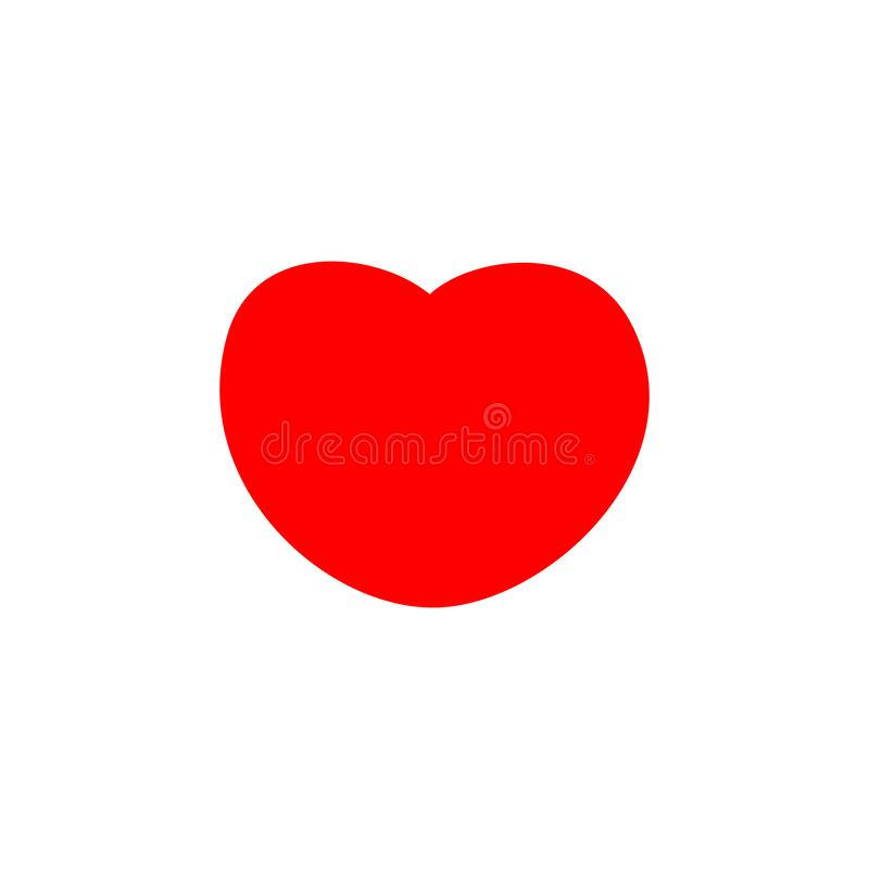 Red heart icon, love icon vector illustration. Red heart logo vector royalty free illustration