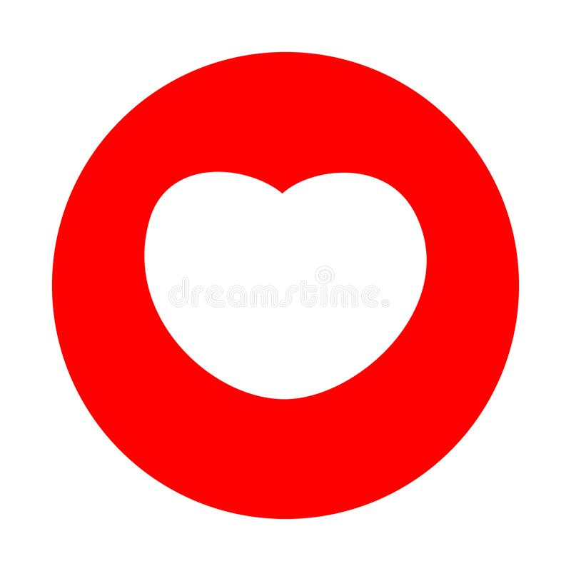 Red heart icon, love icon vector illustration. Red heart logo vector stock illustration