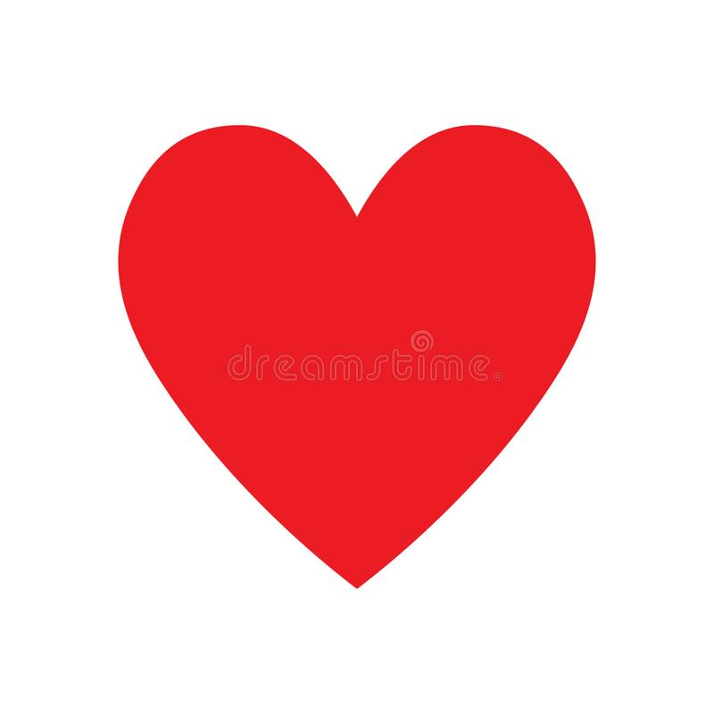 Red heart icon, love icon. Vector illustration royalty free illustration