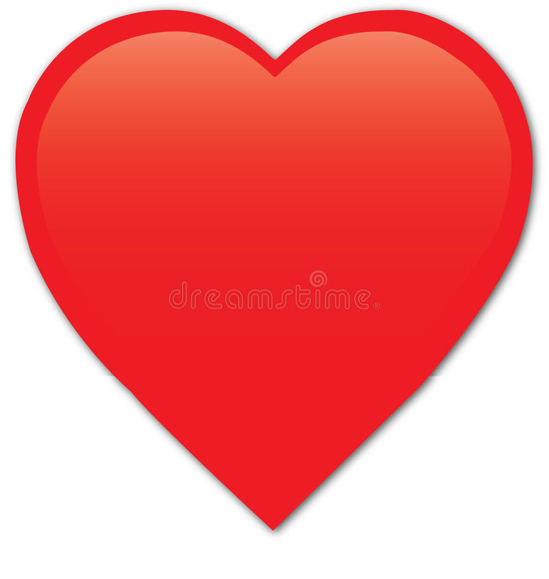 Red heart. Illustration of Red heart isolated on white