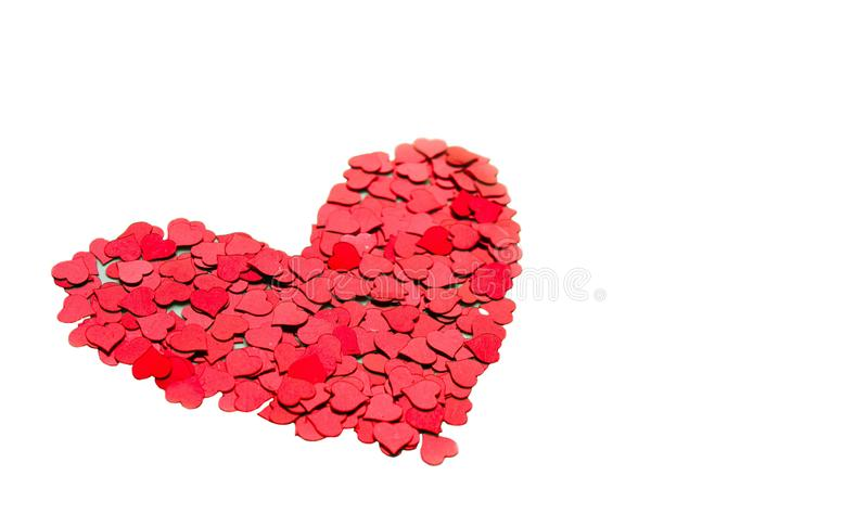 Red heart isolated on white background with copyspace royalty free stock images