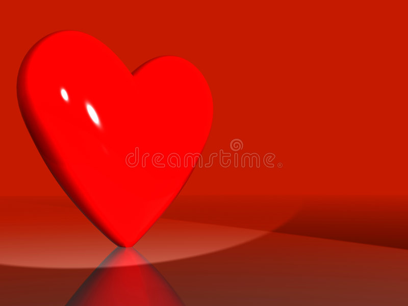 Download Red heart of love stock illustration. Image of graphic - 320806