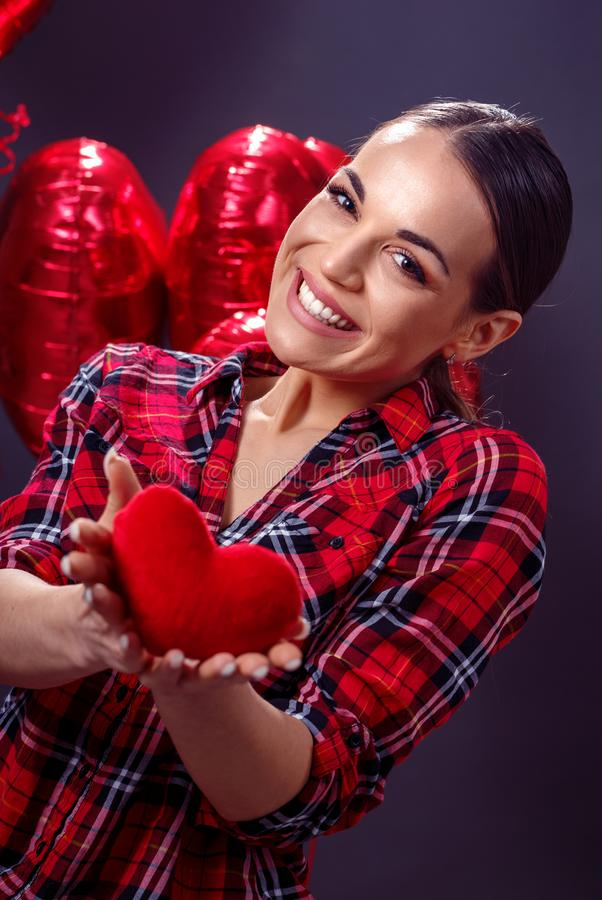 Red heart, love, cute -love concept stock photography