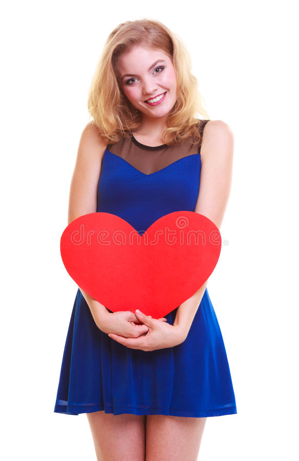 Download Red Heart. Love Symbol. Woman Hold Valentine Day Symbol. Stock Image - Image of shape, love: 39507807