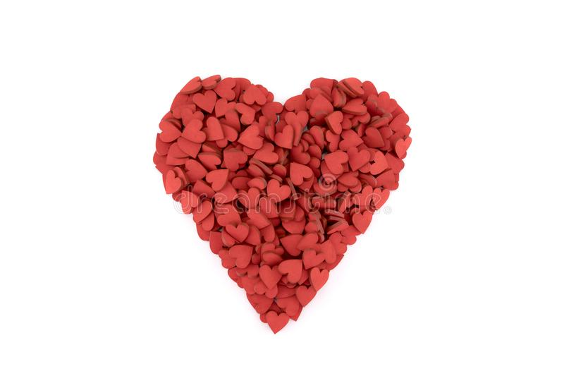 Red heart made of small hearts royalty free stock images