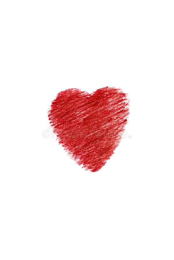 Red heart painted. royalty free stock photo