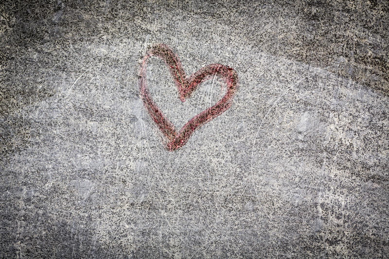 Red heart painting stock photo