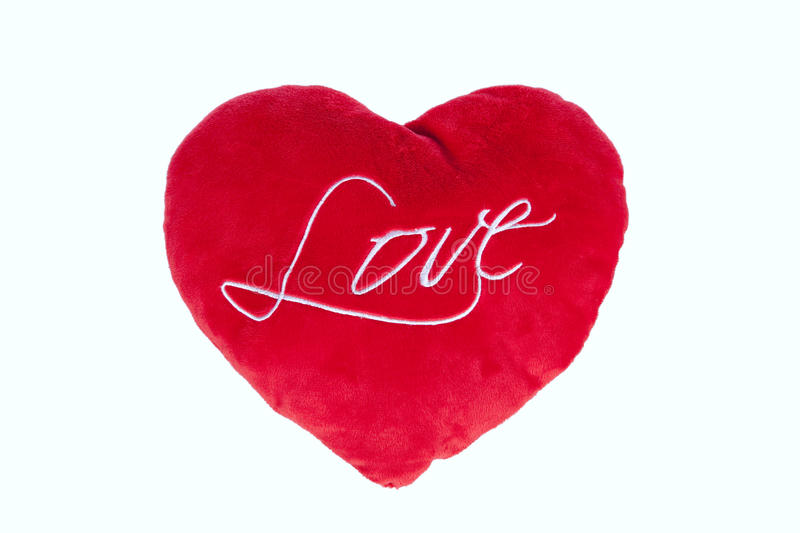 Red Heart Pillow Royalty Free Stock Images